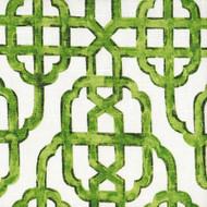 Imperial Jade Green Lattice Duvet Cover