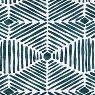 Heni Plantation Blue Contemporary Shower Curtain