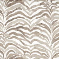 Serengeti Bisque Gray Animal Print Empress Swag Valance, Lined