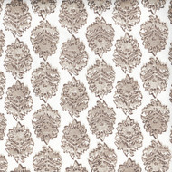 Zira Bisque Gray Medallion Scallop Valance, Lined