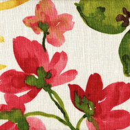 Gazebo Raspberry Red Floral Tailored Valance, Lined