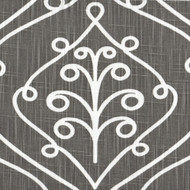 Barcelona Summerland Gray Scroll Tailored Valance, Lined