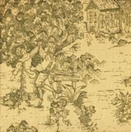 French Country Document Green Toile Sham