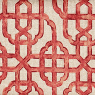 Imperial Coral Lattice Rod Pocket Curtain Panels