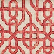Imperial Coral Lattice Tab Top Curtain Panels