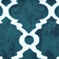 Madrid Plantation Blue Spanish Tile Gathered Bedskirt