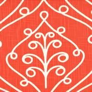 Barcelona Salmon Scroll Decorative Pillow