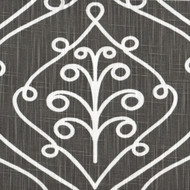 Barcelona Summerland Gray Scroll Scallop Valance, Lined