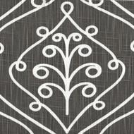 Barcelona Summerland Gray Scroll Gathered Bedskirt