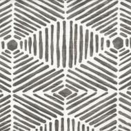 Heni Summerland Gray Tailored Valance, Lined Batik Block Print
