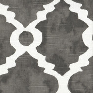 Madrid Summerland Gray Spanish Tile Tie-Up Valance, Lined