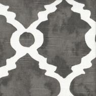 Madrid Summerland Gray Spanish Tile Rod Pocket Tailored Tier Curtain Panels