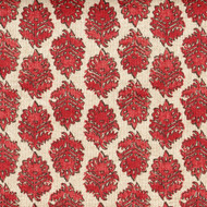 Zira Coral Medallion Gathered Bedskirt