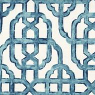 Imperial Seaside Blue Lattice Rod Pocket Tailored Tier Curtain Panels