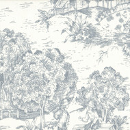 French Country Dove Gray Toile Tailored Valance, Lined
