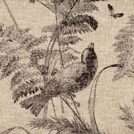 Bird Toile Fossil Brown Sham