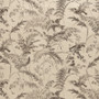 Bird Toile Fossil Brown Shower Curtain