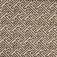 Ikat Fretwork Fossil Brown Rod Pocket Curtain Panels