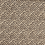 Ikat Fretwork Fossil Brown Pinch-Pleated Curtain Panels