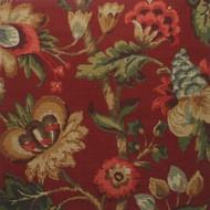 Elizabeth Floral Cardinal Pinch-Pleated Curtain Panels