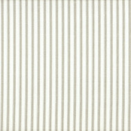 French Country Pebble Taupe Ticking Pinch-Pleated Curtain Panels