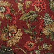 Elizabeth Floral Cardinal Rod Pocket Curtain Panels
