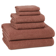 Urbane Brick Red Turkish Cotton Towel Set