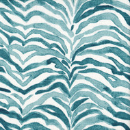 Serengeti Seaside Blue Animal Print Round Tablecloth with Topper