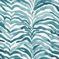 Serengeti Seaside Blue Animal Print Rod Pocket Curtain Panels