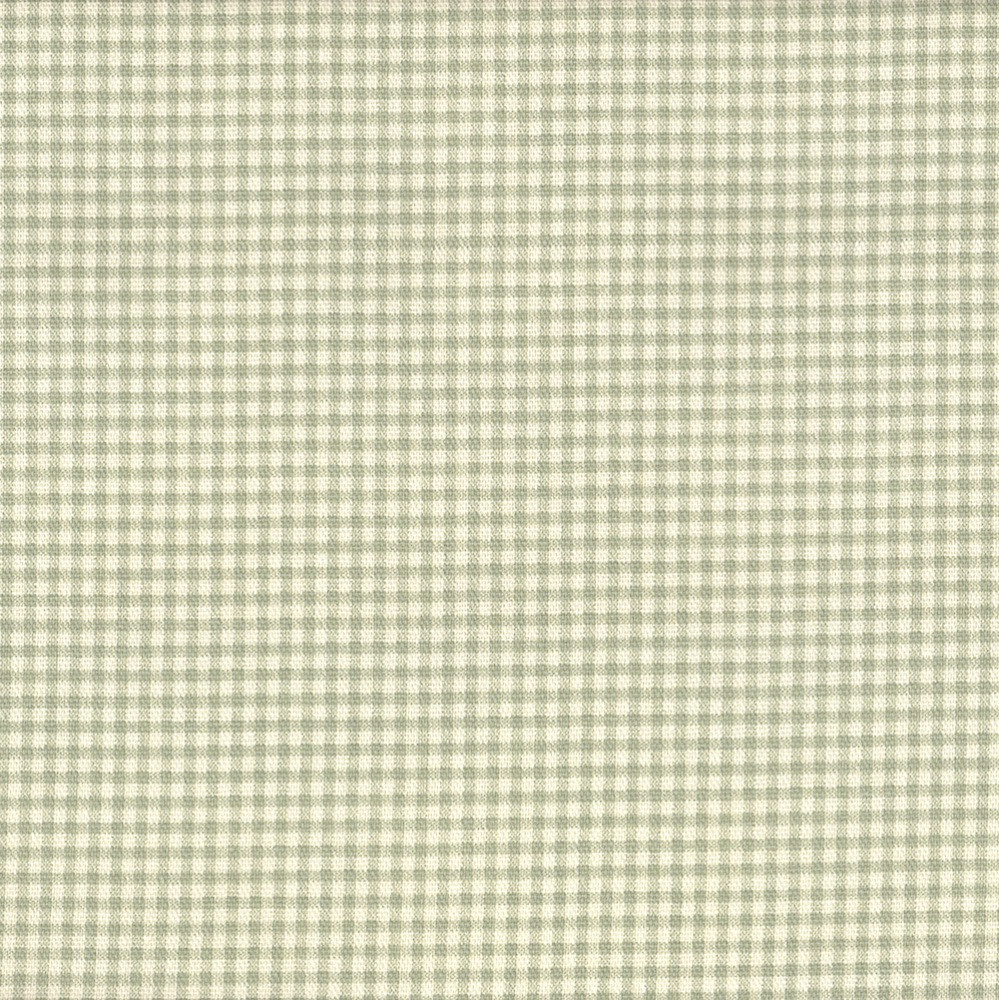 French Country Seafoam Green Gingham Tab Top Curtain