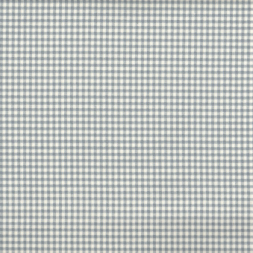 French Country Dove Gray Gingham Round Tablecloth Close