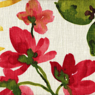 Gazebo Raspberry Floral Shower Curtain