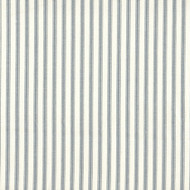 French Country Dove Gray Ticking Stripe Gathered Bedskirt