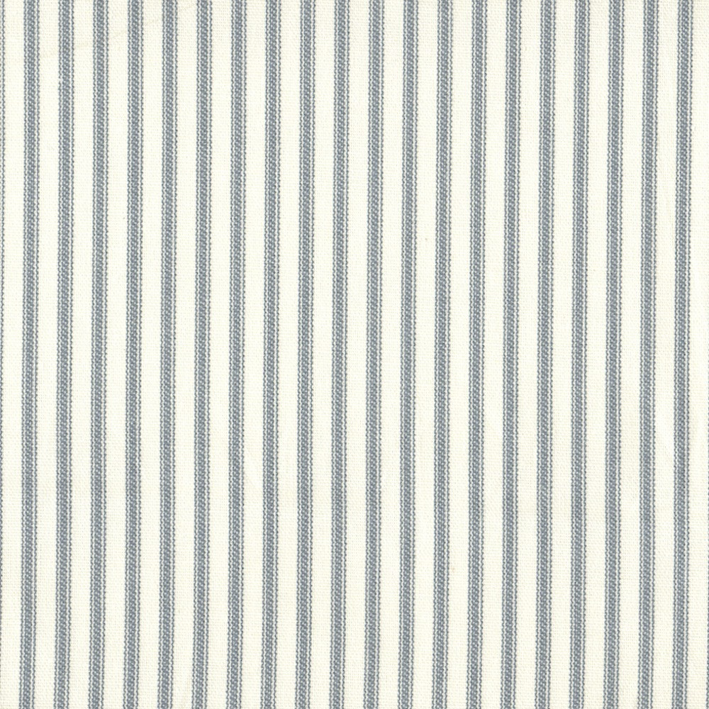 French Country Dove Gray Ticking Stripe Bradford Valance