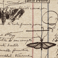 Antique Ledger Fossil Brown French Script Bolster Pillow