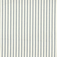 French Country Dove Gray Ticking Stripe Shower Curtain with Ruffled Bottom