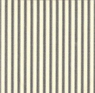 French Country Brindle Gray Ticking Stripe Shower Curtain with Ruffled Bottom
