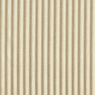 French Country Linen Beige Ticking Stripe Shower Curtain with Ruffled Bottom