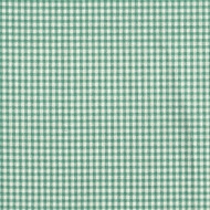 French Country Pool Green Gingham Shower Curtain with Ruffled Bottom