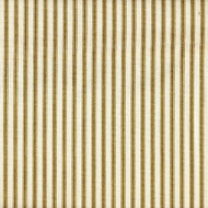 French Country Chartreuse Ticking Stripe Shower Curtain with Ruffled Bottom