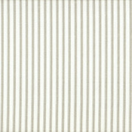 French Country Pebble Taupe Ticking Stripe Shower Curtain with Ruffled Bottom
