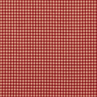 French Country Crimson Gingham Shower Curtain with Ruffled Bottom