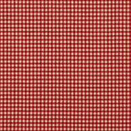 French Country Crimson Gingham Shower Curtain with Valance