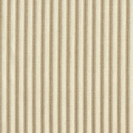 French Country Linen Beige Ticking Shower Curtain with Band