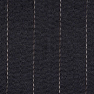 Copley Stripe Black Round Tablecloth with Topper