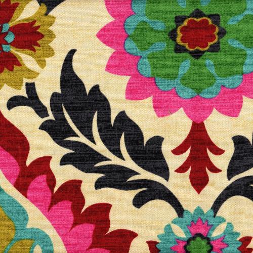 santa maria desert flower shower curtain with band