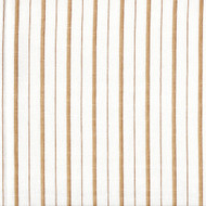 Piper Sand Brown Stripe Shower Curtain with Band