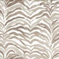 Serengeti Bisque Gray Animal Print Shower Curtain with Band