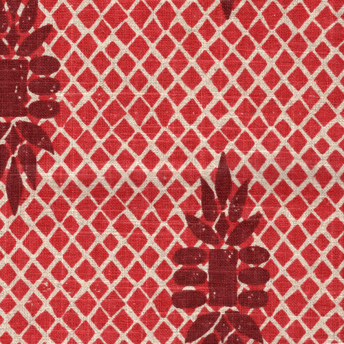 Boca Garnet Red Shower Curtain