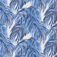 Villa Palm Wedgewood Blue Shower Curtain